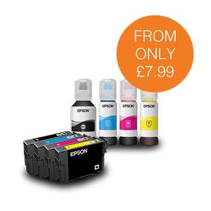 Get 25% off all multipacks with code and 15% off all single inks with code at Epson