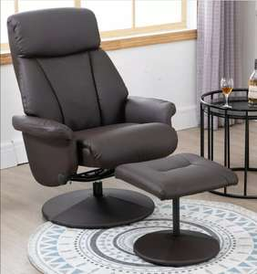 Recliner Chair Swivel Lounge Highback PU Leather with Footrest Stool Armchair brown £84.99 eBay / 2011homcom