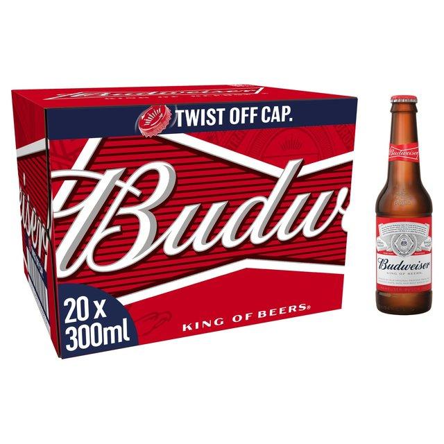 (Online only) Budweiser Lager Beer Bottles 20 x 300ml £10 @ Morrisons