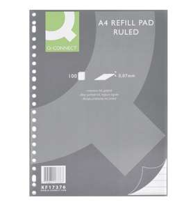 Q-Connect A4 Refill Pad Ruled 70gsm 100 Sheets Pack of 10 £5.15 (or 5 pack spiral £3.94) dlmdistribution2016 eBay