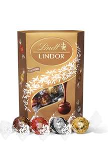 Lindt Lindor Assorted Chocolate Truffles Box - Approx. 26 Balls, 337g - minimum order 2 boxes £10 (Prime) / £14.49 (non Prime) at Amazon
