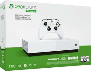 Xbox One S All-Digital Edition with Minecraft, Sea of Thieves and Fortnite £149 Delivered @ Microsoft Store