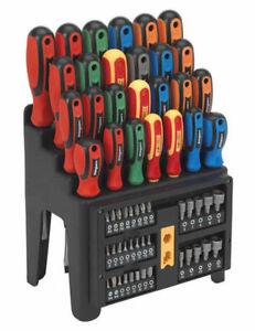 Sealey Siegen Screwdriver + Bit Nut Driver Set 61pce + Storage Rack £27.95 Delivered using code @ eBay / thetootlacademy