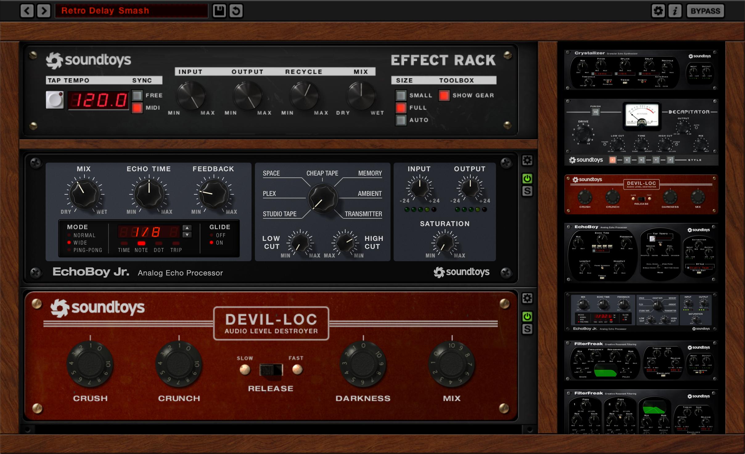 Soundtoys Effect Rack free plugin