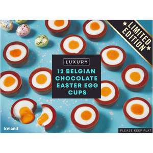 Iceland Luxury 12 Belgian Chocolate Easter Egg Cups 232g - £3 at Iceland