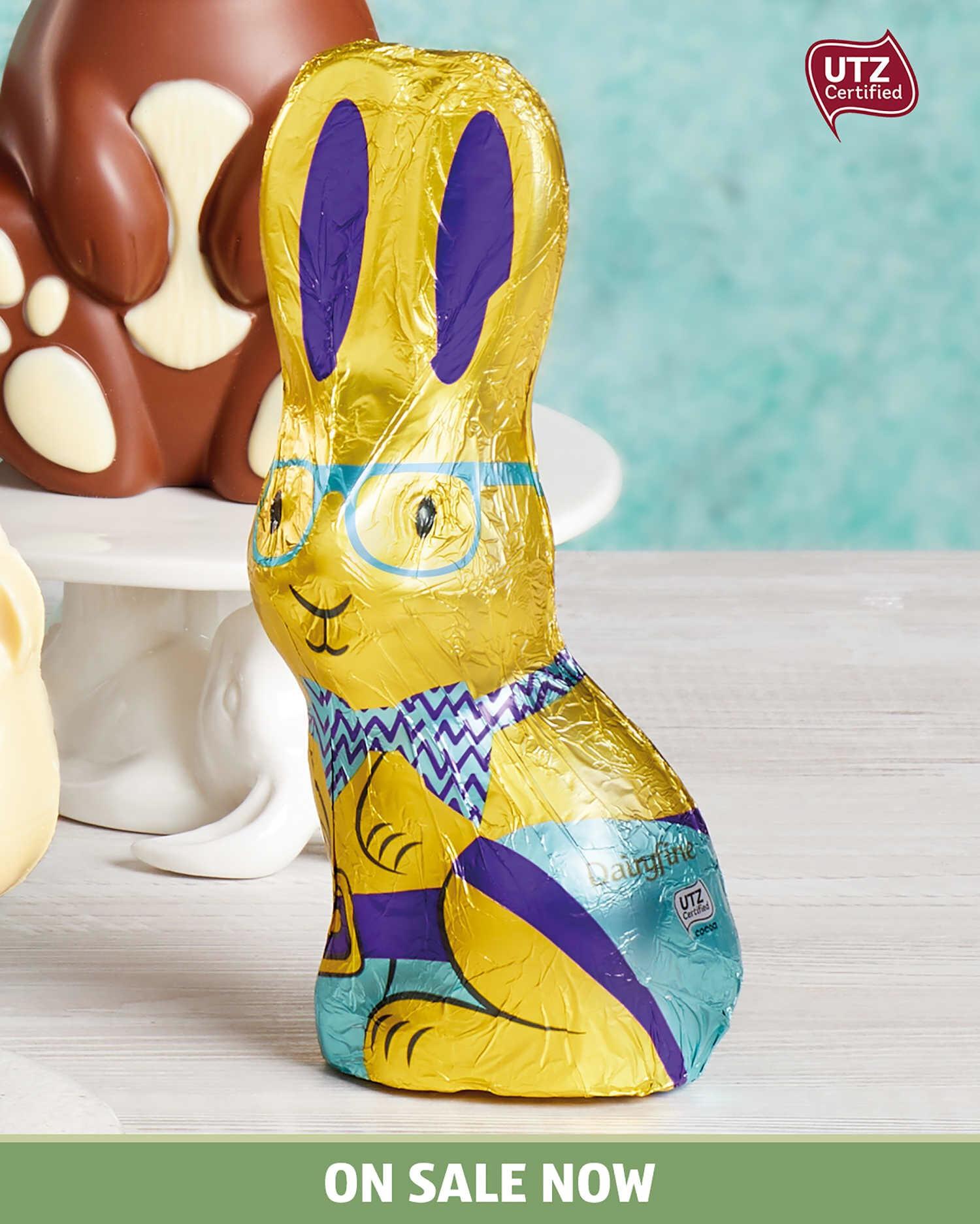 Dairyfine Milk Chocolate Bunny 150g - £0.69 @ Aldi