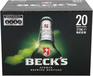 ASDA - Becks lager 20 x 275ml bottles for £10
