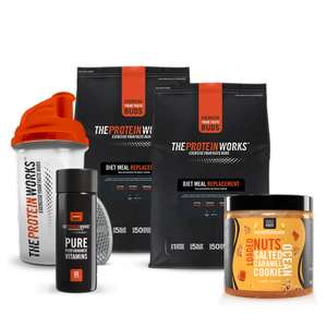 Complete meal, snack & immunity bundle - £19.99 with code + £3.99 p&p (grand total £23.98) @ The Protein Works