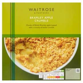 Waitrose - Bramley Apple Crumble 500g - £2 @ Waitrose & Partners (Min basket £60)
