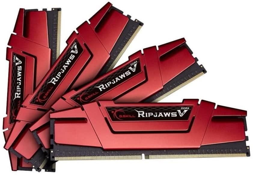 G.SKILL Ripjaws V Series 32 GB (8 GBx4) DDR4 2400 MHz C15 1.2 - Blazing Red £84.41 @ Amazon