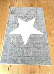 Nursery Rug with Latex Backing 100 X 150cm (Various Styles) £9.99 Amazon sold by Venture Blue.