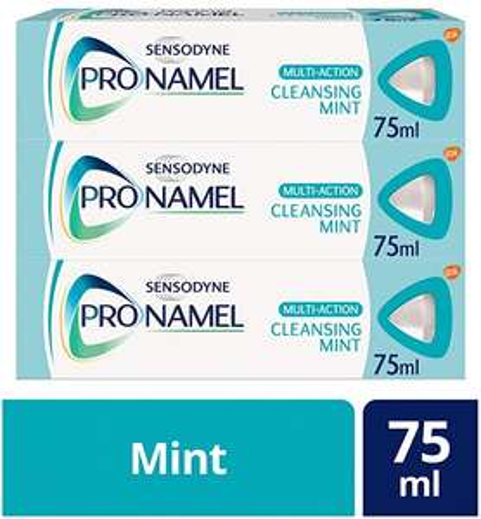 Sensodyne Pronamel Multi-Action Toothpaste, 75ml, Pack of 3 £6 (Prime) + £4.49 (non Prime) at Amazon