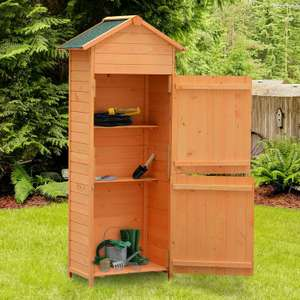Wooden Garden Shed / Tool Storage Cabinet With Shelves - £79.89 Delivered Using Code @ eBay / 2011homcom