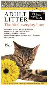 Clean-n-Tidy Adult Everyday Cat Litter, 15 Kg £11.55 @ Amazon Prime / £16.04 Non Prime
