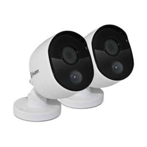 Swann Thermal Sensor Outdoor Security Cameras 2 Pack: 1080p Full HD with IR Night Vision & PIR Motion Detection, £60 at AO