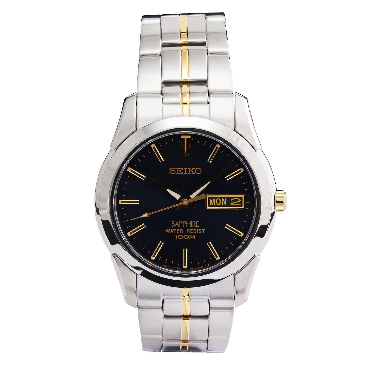 Seiko Sapphire Men's Stainless Steel Bracelet Watch, £75.65 at H.Samuel