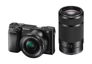 Sony A6000 Mirrorless Camera, 16-50mm OSS & 55-210mm OSS Twin Lens Kit £599 at CameraWorld