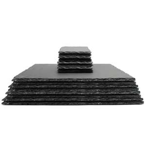 Natural Slate Placemats & Coasters - 8 Place settings = 8 Mats & 8 Coasters - £13.49 + Free Delivery Using Code @ Roov