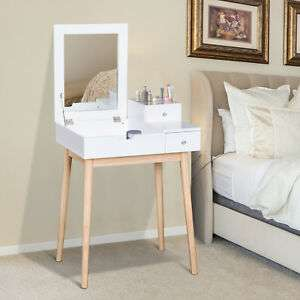 Dressing Table Desk with Flip-up Mirror 2 Drawers for Makeup & Accessories £39.09 w/code @ Aosom/eBay