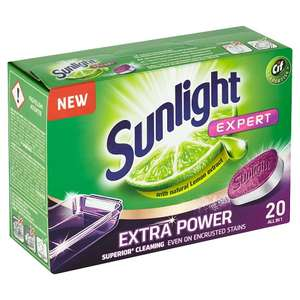 Cif Sunlight Expert Extra Power With Natural Lemon Extract Dishwasher Tablets, 20 Pack, £1 In Store @ OneBelow (Argyle Street, Glasgow)