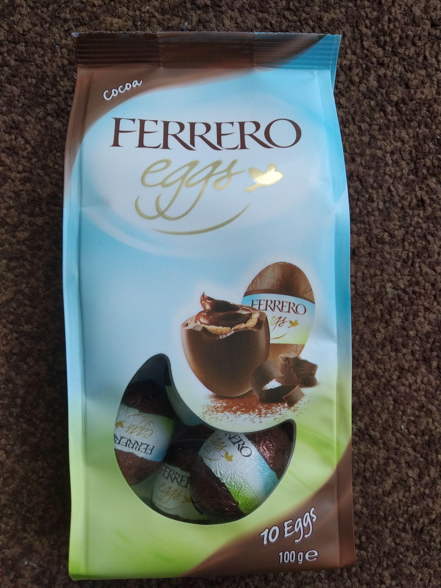 Ferrero eggs cocoa 100g Heron Foods Corby - 69p