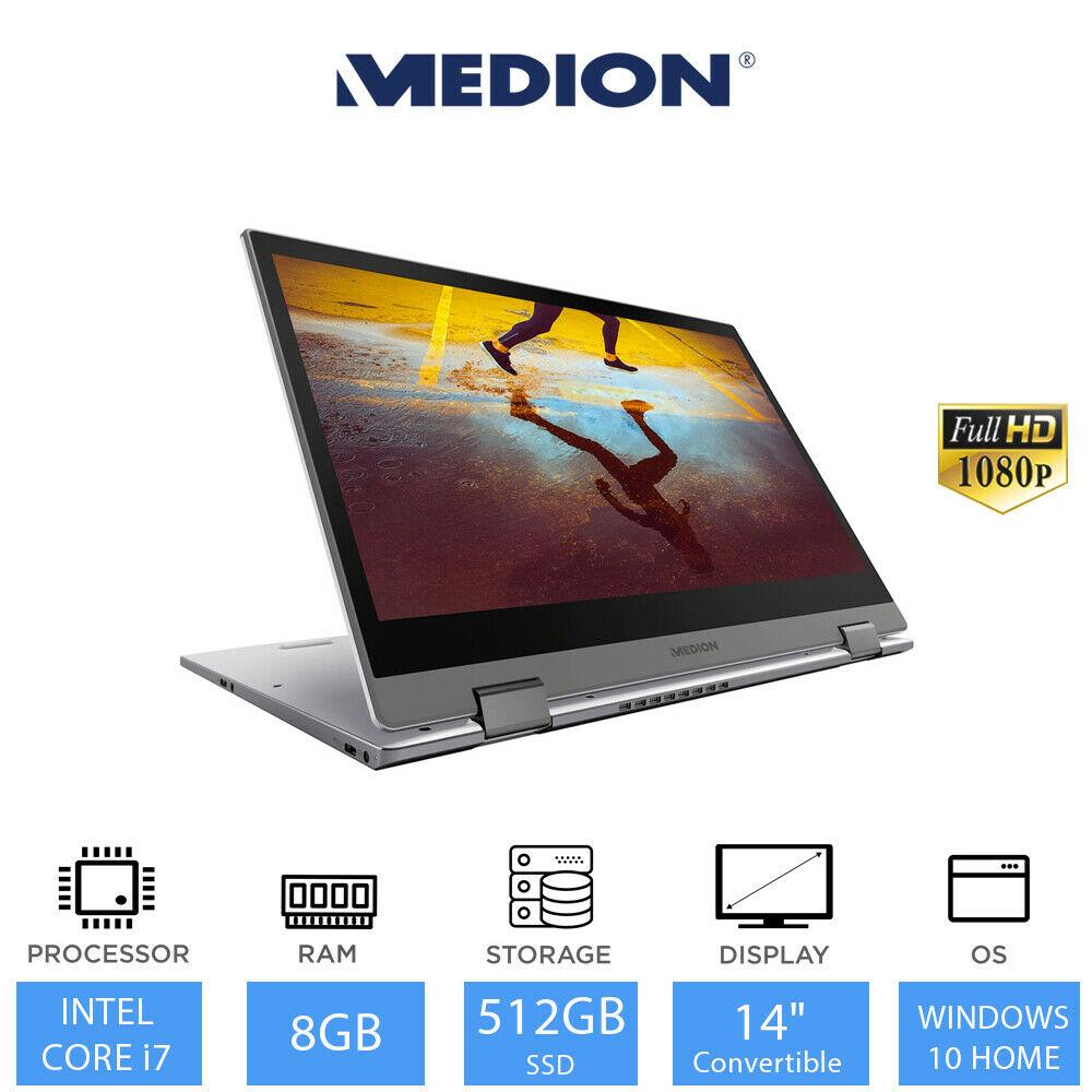 "Medion S4403 14"" Convertible Touchscreen Ultrabook - Full HD / i7-8550U / 8GB / 512GB SSD - £619.99 Using Code @ eBay / laptopoutletdirect"