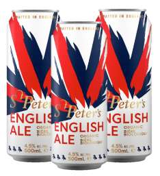 St. Peter's English Ale -Organic - 24 x 500ml Cans for £22.76 (95p a can), 48 cans for £38.50 (80p a can) etc. at St Peters Brewery