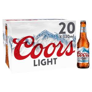 Coors Light Lager 20 x 330ml bottles £10 @ Asda (Min basket £40 + up to £4 delivery)