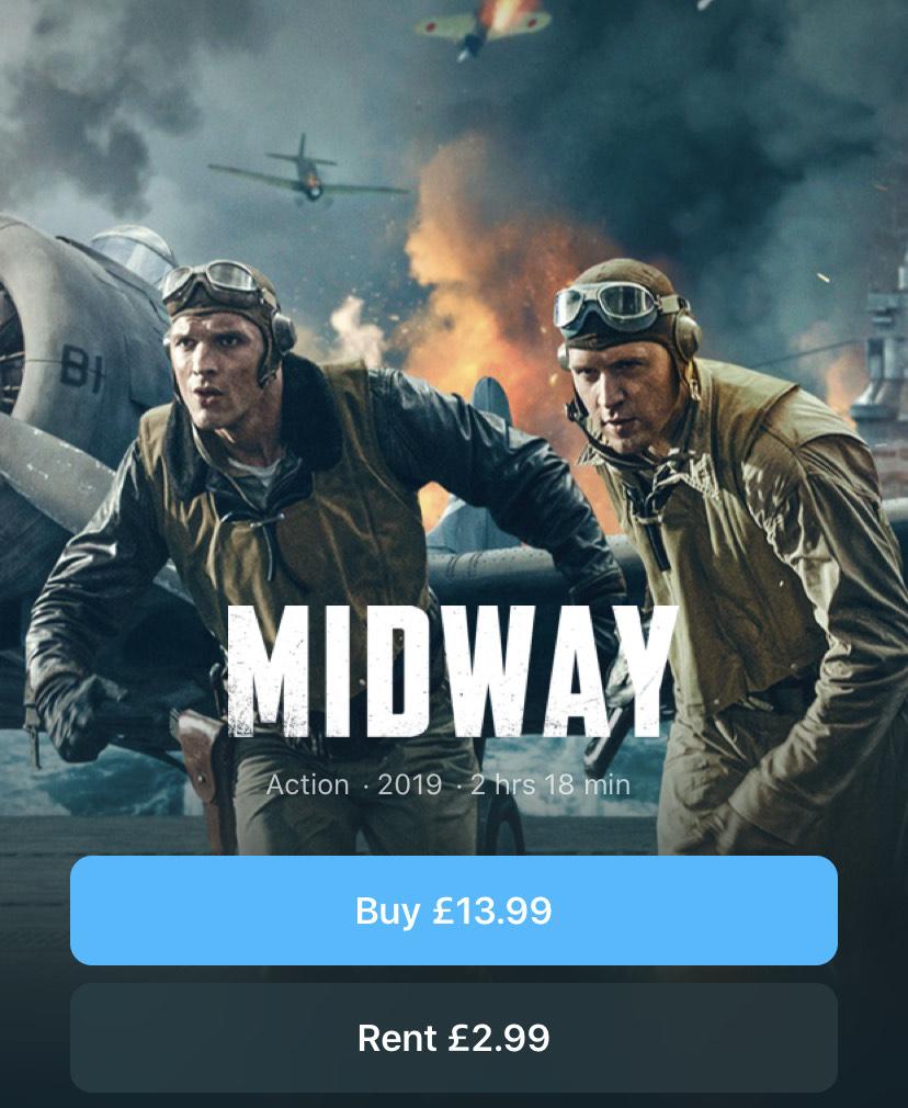 Midway iTunes movie weekend rental - £2.99 @ Apple Store