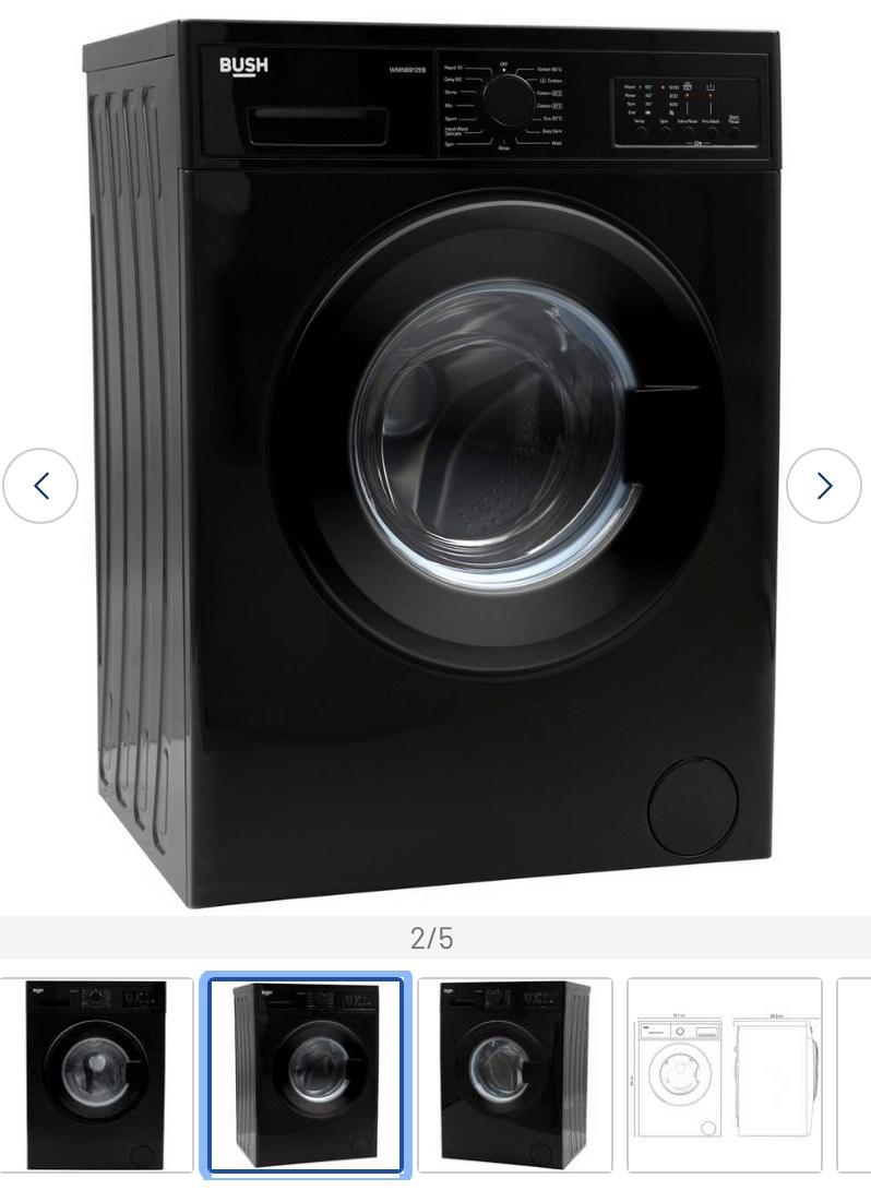 Bush WMNB912EB 9KG 1200 Spin Washing Machine - Black £219.99 @ Argos