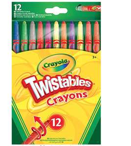 CrayolaTwistables Crayons, Pack of 12 - Multicolour £2 prime / £6.49 non prime at Amazon