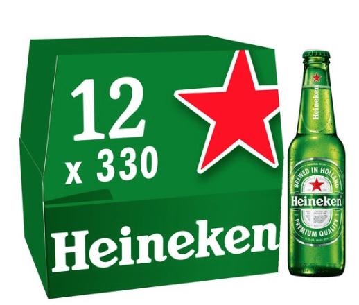Heineken 12x 330ml bottles £7 @ Tesco - in store & online - Min basket £40 + up to £4 delivery