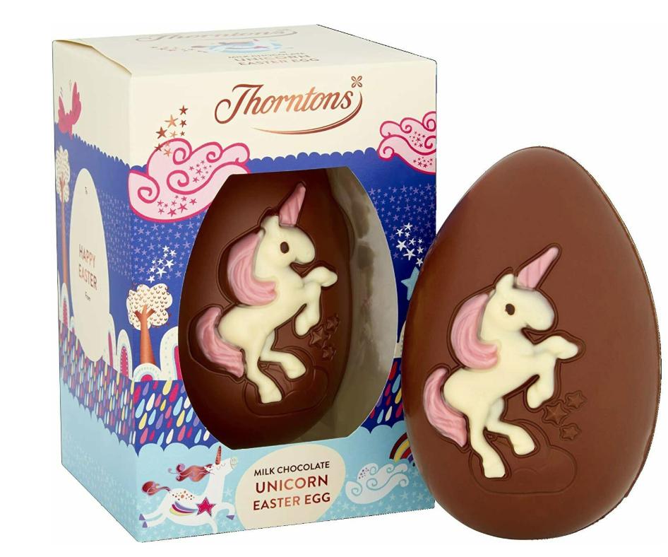 Thorntons Milk Chocolate Unicorn Easter Egg / Dinosaur Easter Egg / Chocolate Bunny Egg / White Chocolate Bunny Egg £1.50 @ Asda
