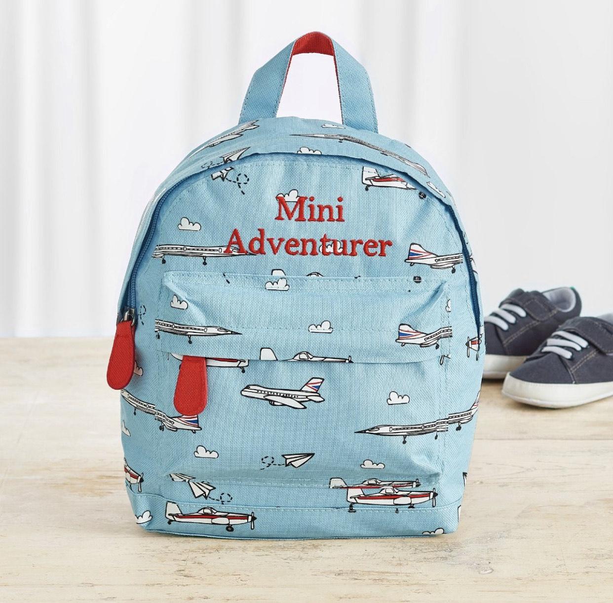 Personalised British Airways Aeroplane Print Mini Backpack £12.50 @ My 1st Years (£3.95 P&P)