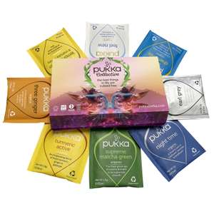 Free pack of 8 tea sachets on signup with Pukka Herbs