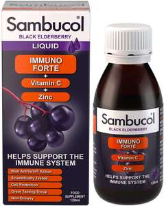 Sambucol Natural Black Elderberry Immuno Forte £6.90 with code @ Amazon (+£4.49 non-prime)