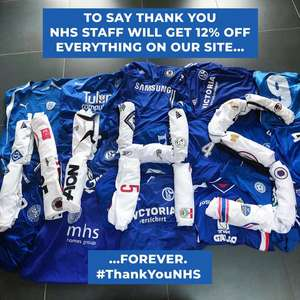 12% Off Everything @ Classic Football Shirts for NHS Staff
