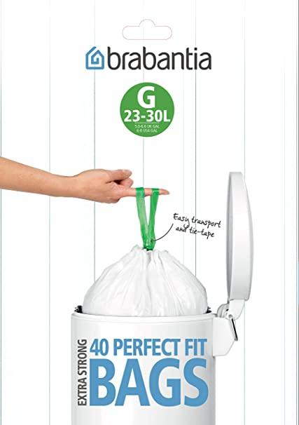 Brabantia Bin Liners, Size G, 23-30 L - 40 Bags - £6.79 Prime (+£4.49 non-Prime) @ Amazon