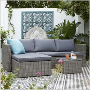 3 Seater Rattan Garden Furniture in Grey Only £216 (+£12.50 Delivery) @ Homebase