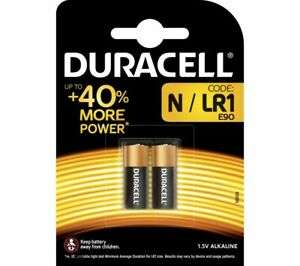 DURACELL MN9100/LR1/KN N Alkaline Batteries - Pack of 2 £1.89 delivered @ ebay Currys