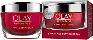 Olay Regenerist 3 Point Firming Anti-Ageing Cream Moisturiser with Hyaluronic Acid, 50 ml, Pack of 1 £13 + £4.49 NP @ Amazon