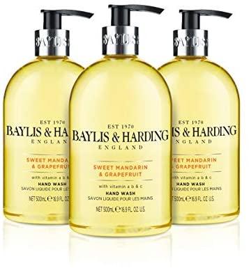Baylis & Harding Sweet Mandarin and Grapefruit Hand Wash, 500 ml, Pack of 3 £4.50 Prime / £8.99 Non Prime @ Amazon