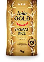 Laila Gold Basmati Rice 10Kg for £11 at Tesco