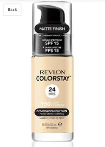 Revlon Colorstay Foundation (Ivory and Buff) (combination/oily skin) £5.99 (prime) @ Amazon (+£3.49 non Prime)