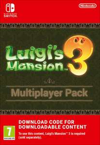Luigi's Mansion 3 Multiplayer Pack SWITCH Digital Download at ShopTo for £6.85