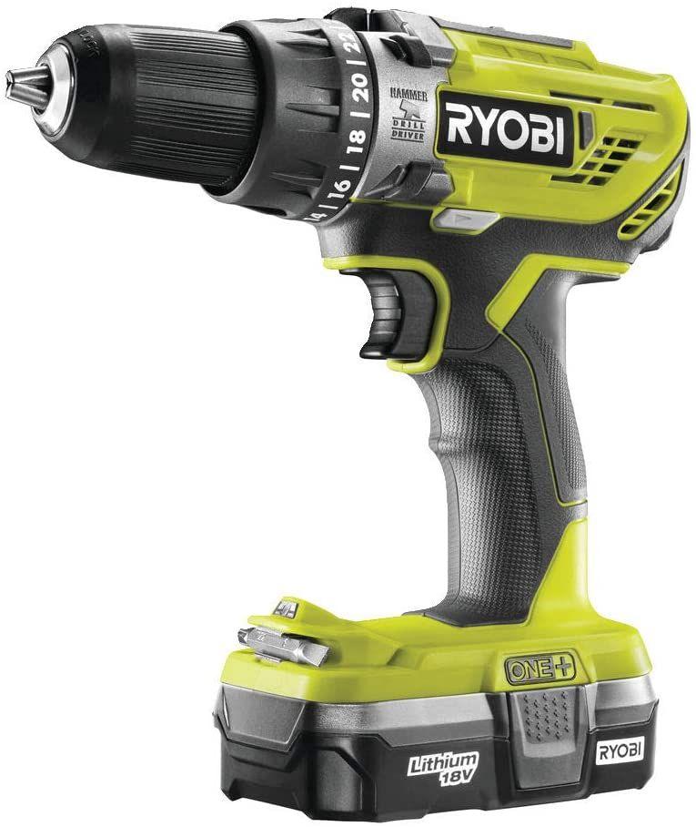Ryobi 18 V ONE+ Cordless Combi Drill + 1.3 Ah Battery + Charger - £59.99 @ Amazon