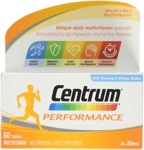 Centrum Performance Multivitamin Food Supplement - Pack of 60 - £7.50 with Prime on Amazon (+ £4.49 non-Prime )