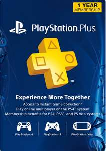 12 Month PSN Subscription (US account only) £28.99 @ CD Keys