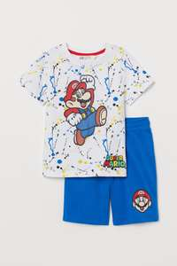 Kids 2-piece jersey set 100% Cotton - Super Mario / Mickey Mouse / Captain America - £7.99 delivered @ H&M