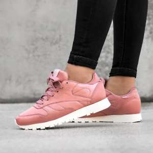 Reebok Classics Womens Leather Satin Trainers Chalk Pink/Classic White £19.98 delivered ( £14.99 for delivery pass members) @ MandM Direct